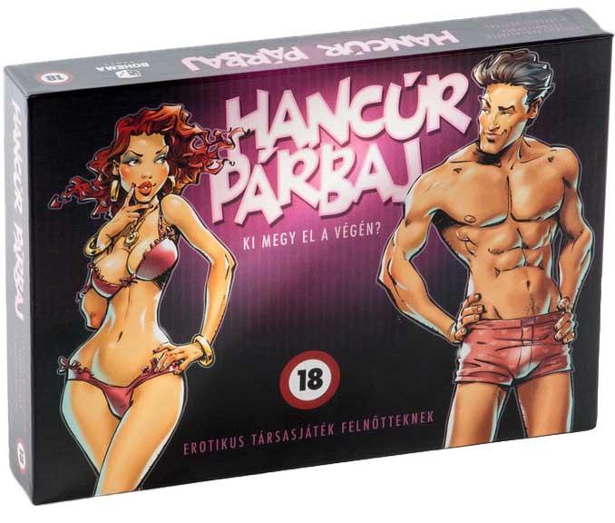 A Hancúr Párbaj felnőtt társasjáték doboza. Gyártó: Bohéma Games